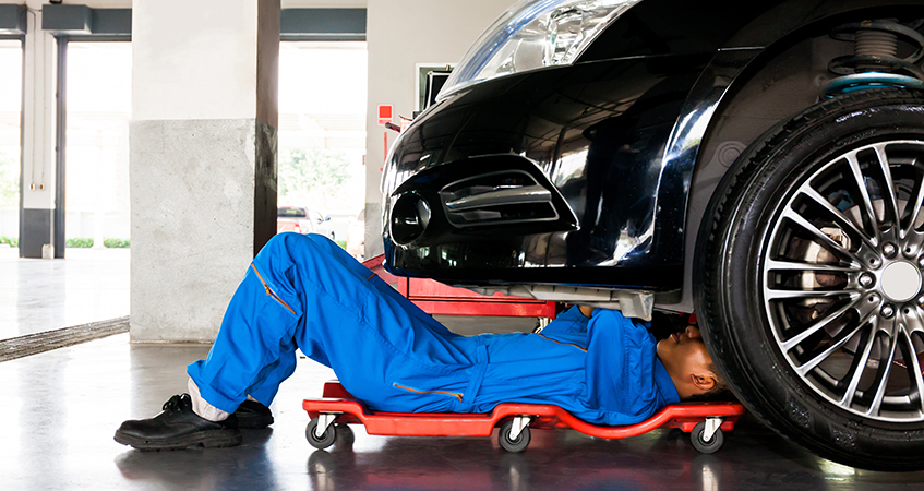 Mechanic servicing a vehicle - Car Servicing Southampton